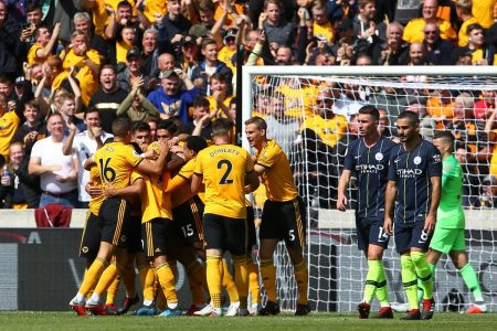 Wolves hold Champions Man. City to a 1-1 draw