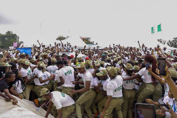 Breaking: Frenzy at Lagos NYSC Camp as Davido arrives