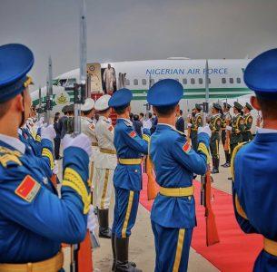 President Muhammadu Buhari arrives in China for FOCAC