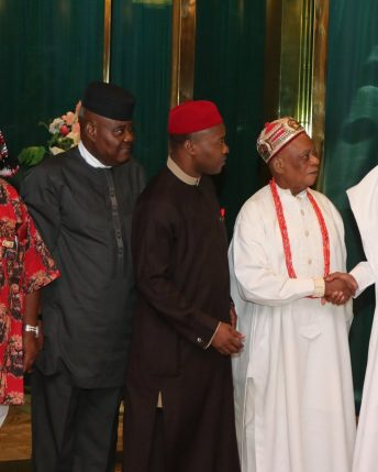 President Buhari receives Traditional rulers from Abia State