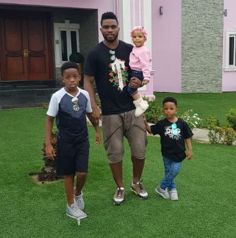 Joseph Yobo shares adorable photo of his children