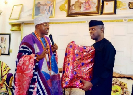 Vice President Osinbajo honoured with a Chieftaincy title