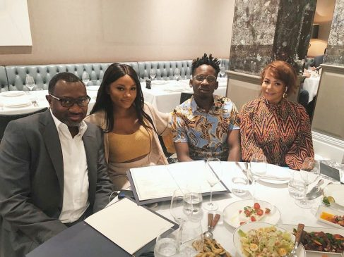 Mr. Eazi enjoys lunch date with the Otedolas