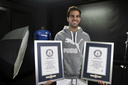 Fabregas gets double Guinness world record for his assists