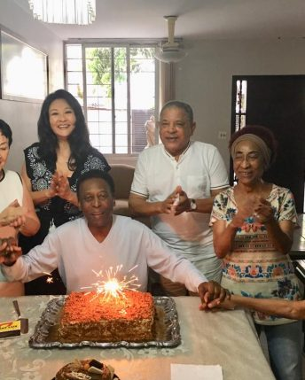 Edson Arantes Pele thank friends and fans for birthday messages