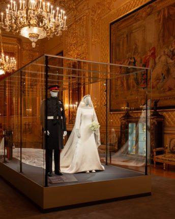 Meghan and Harry wedding outfits on display at Windsor exhibition