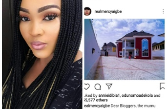 PHOTO: I bought my House through hard work- Mercy Aigbe