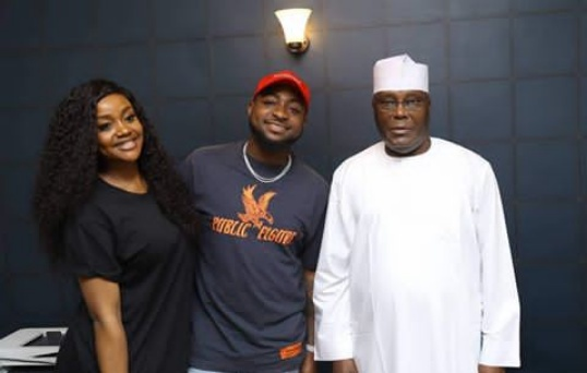 Davido and Chioma meet with PDP Presidential candidate Atiku