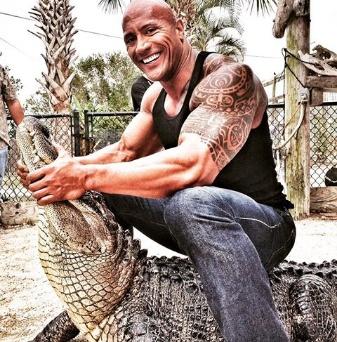 Dwayne Johnson shares TBT of him wrestling with a crocodile