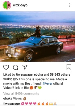 Wizkid and Tiwa finally clears the air on Fever music video