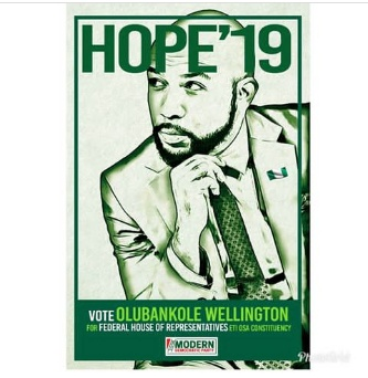 Singer Banky Wellington unveils Poster to run for House of Reps