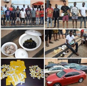 Cyber crime: EFCCArrests 24 Undergraduates, 12 Others