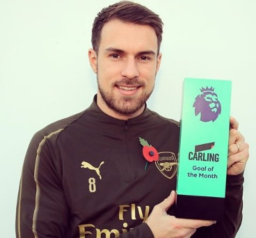 Breaking: Aaron Ramsey wins goal of the month award
