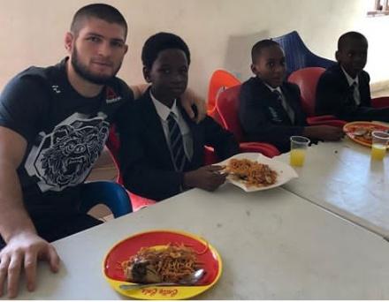 UFC champion, Khabid Nurmagomedov visits Nigeria