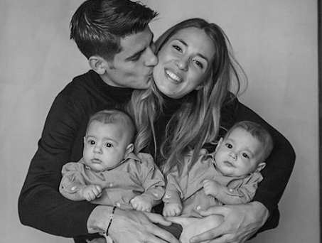 Alvaro Morata shares a lovely photo of his family