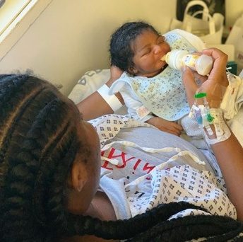 Super Eagles defender Kenneth Omeruo and wife welcome first child
