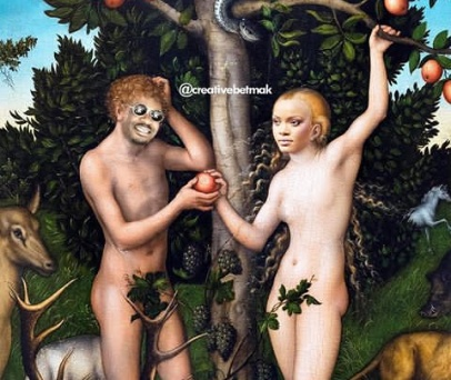 A fan hilariously depicts Don Jazzy and Rihanna as Adam and Eve