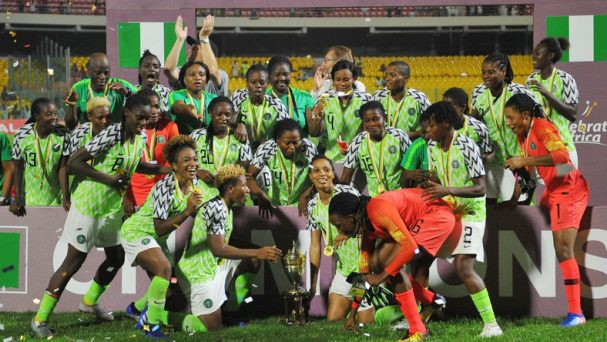 Super Falcons wins CAF female National team of the year 2019