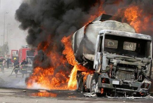 PHOTO: Petrol Tanker Explosion Kills Six In Kwara State