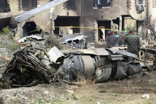 15 dead, as Military cargo plane crashed in Iran