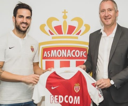 Cesc Fabregas finally moved to Monaco for £10m