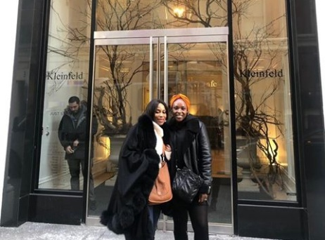 Mo Abudu and daughter Temidayo shop for wedding dress in NY