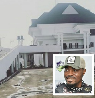 Emenike shows off newly built multi-million naira mansion