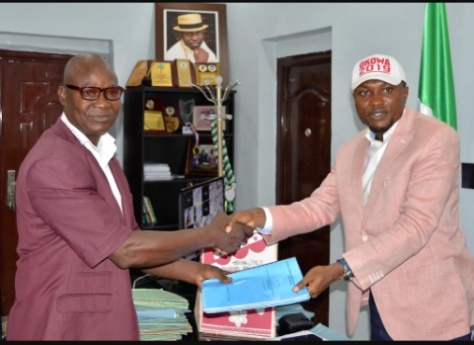 Dr Tidi gets committee report on the causes of Ogbe-Ijoh market fire