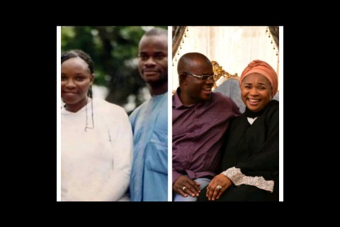See epic throwback photo of Yahaya Bello and Amina Bello