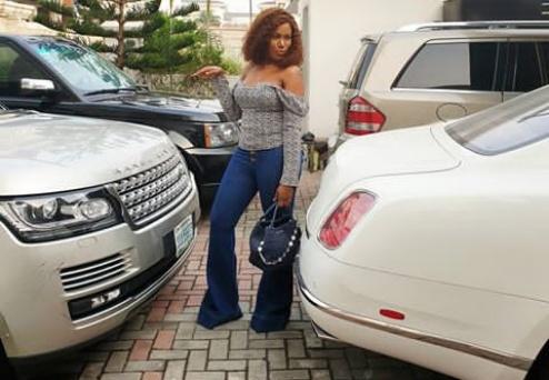 Linda Ikeji shares a glimpse of her multi-million naira garage