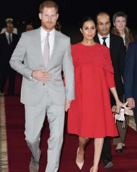 Meghan and husband Prince Harry land in Morocco on official visit