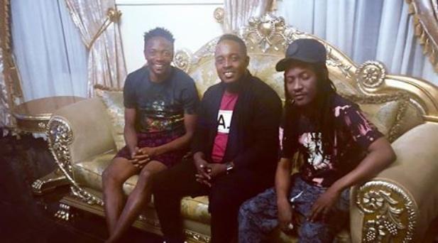 MI Abaga, Jesse Jagz pay a condolence visit to Ahmed Musa