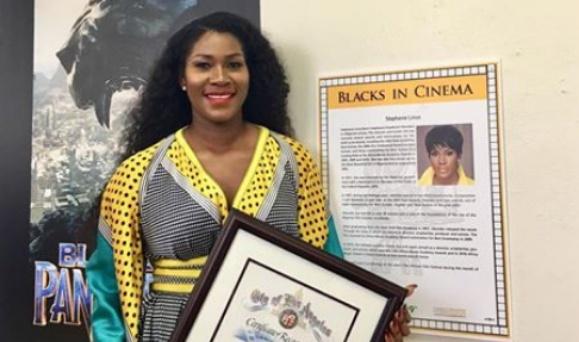 Stephanie Okereke-Linus finally reveals she was honoured for DRY