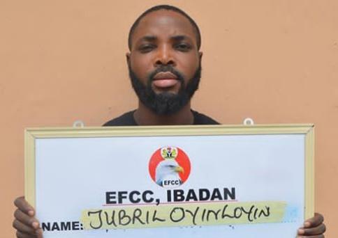 EFCC arraigns one Oyinloye Jubril for love scam