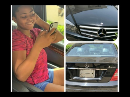 Regina Daniels gifted with a Benz a few days after she got a house