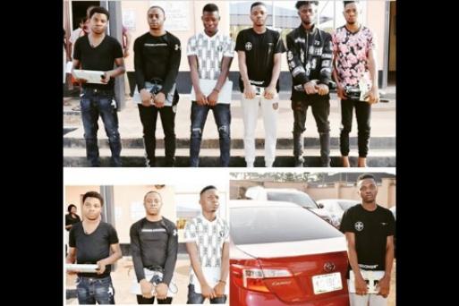 EFCC arrests one Tella Ibrahim, 5 other 'Yahoo Boys' in Ibadan