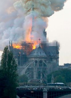 Breaking: The Iconic Notre Dame Cathedral in Paris up in flames
