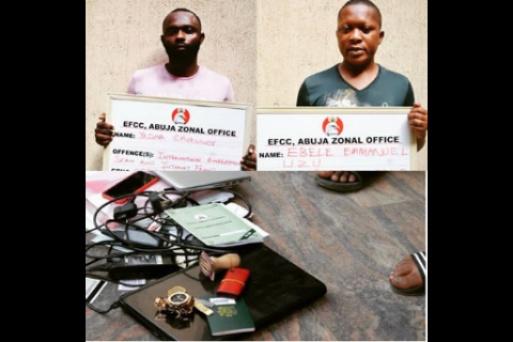 EFCC nabs Ebele and Yadina Chukwudi for online fraud