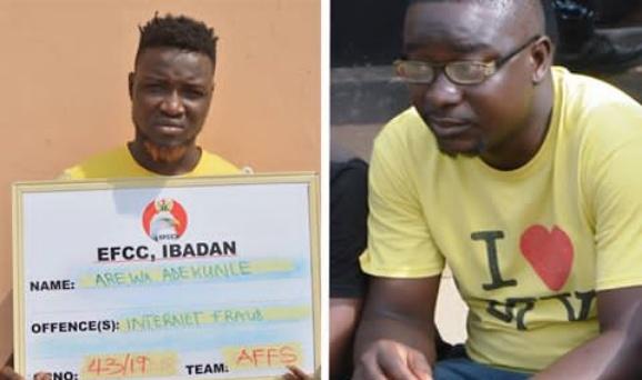One Arewa Adekunle and Kadiri jailed online fraud