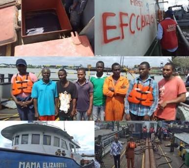 Navy hands over Vessel MV Mama Elizabeth-1, 8 suspects to EFCC