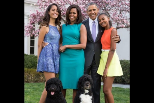 Obama shares a lovely Easter Message with family and their Dogs