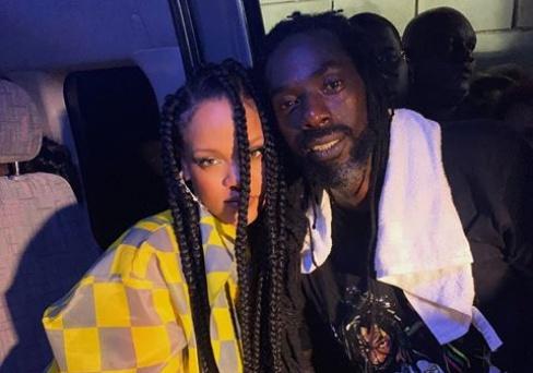 Rihanna meets with Jamaican reggae dance-hall king Buju Banton