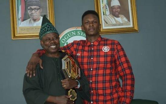 UFC champion Israel Adesanya meets Ogun state Gov Amosun