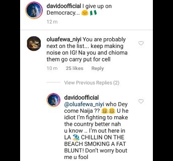 I am not scared of anybody, not even the Police-Davido tells fans