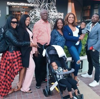 Linda Ikeji shares touching childhood photo of her mother and sisters