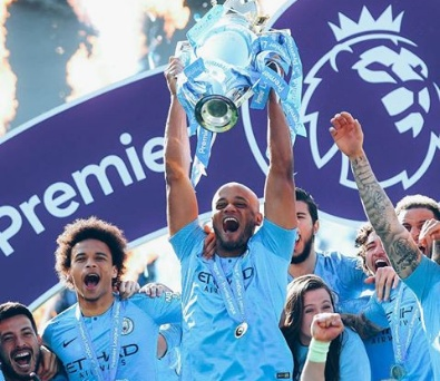 Manchester City retains EPL title after thumping Brighton 1-4
