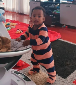 Linda Ikeji gushes about her son standing for the first time