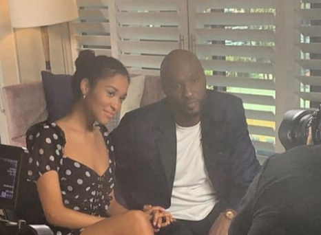 Lamar Odom appeared at the Good Morning America with daughter