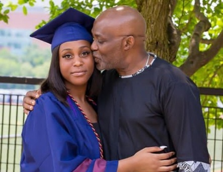 Richard Mofe Damijo shares a prayer with daughter going to college
