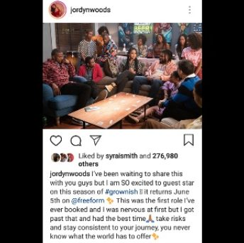 Jordyn Woods gets first acting role on 'Grown-ish'
